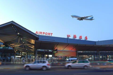 2号航站楼出发层,虹桥机场2号航站楼南北出发层,送客车辆停车一律不能
